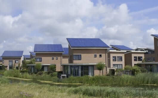 Houses Eco Solar Panels