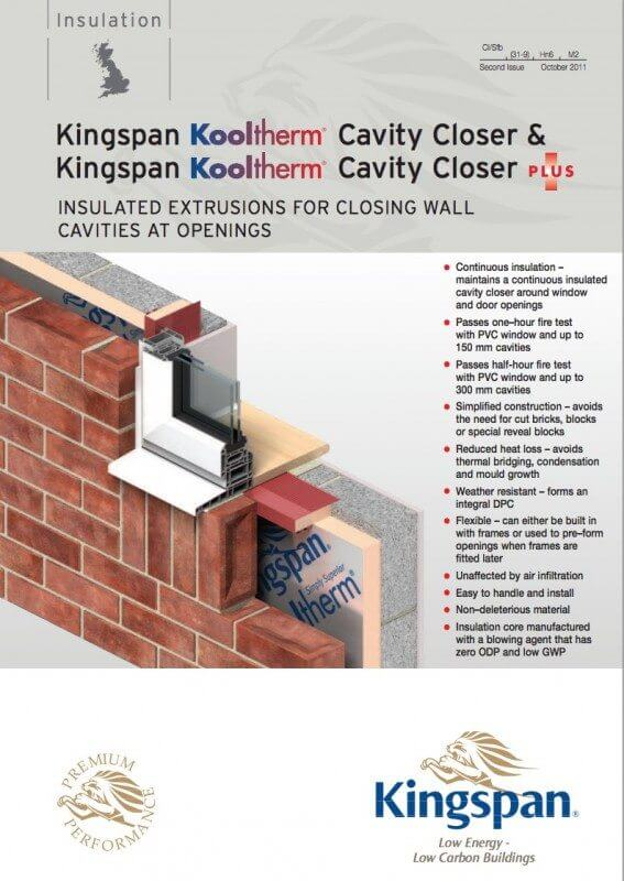 Cavity Closers By Kingspan Subframes Uk Ltd Cavity